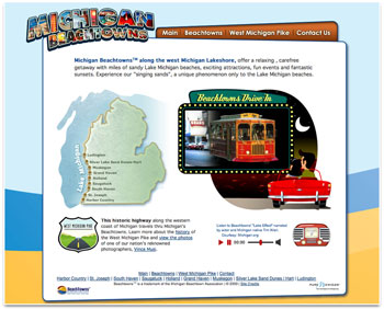 Michigan Beachtowns website